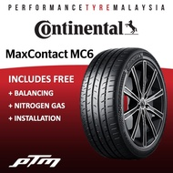 Continental MaxContact 6 MC6 16 17 18 INCH Tyre Tayar Tire (INSTALLATION OR DELIVERY)