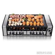 皓彩雙層無煙電烤爐烤肉機電烤盤家用烤肉鍋自動旋轉燒烤爐烤串機