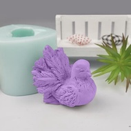 DW0225 PRZY Silicone Wedding Birthday Candle Mold 3D Animal Bird Pigeon Moulds Dove Soap Molds Clay Resin Moulds