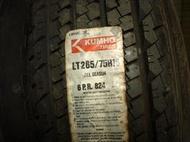 吉普車輪胎 雲林連合吉普KUMHO 265/75X16 全新庫存胎每條2500元含運喔 來店免費安裝