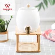 耐高溫可開水涼水壺套裝啤酒桶家用陶瓷涼水壺水龍頭冷水壺大容量