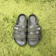 THE NORTH FACE 北臉 軍綠 寬版 魔鬼氈條 加厚底 運動涼拖鞋(4cm) NS98M20T