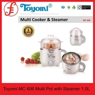 Toyomi MC606 Multi Pot with Steamer 1.0L W STAINLESS STEEL POT INSIDE (MC606)