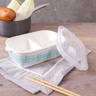 出清 現貨 陶瓷分隔便當盒 三格便當盒 餐盒 保鮮盒