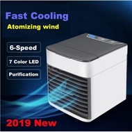 2020 Upgrade Portable Mini USB Air Conditioner Humidifier Purifier Mini Fan Sleep Mode For Bedroom Living Room Summer Cooler Fan