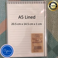 Cyras Muji Style Steno Notebook A5/B5 for School and Office Use