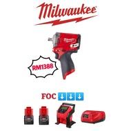 "MILWAUKEE M12 FIWF12-302 1/2"" STUBBY IMPACT WRENCH"