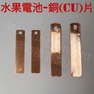 X004  水果電池實驗教具/銅片/Cu片/鋅銅電池/國小國中自然科學教具/銅片4與5公分/電極片/電學實驗材料/鋅銅片