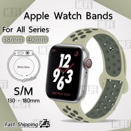 hot สาย Nike Sport ไซส์ S/M สำหรับ นาฬิกา Apple Watch ทุกซีรีย์ 40mm 38mm - สายนาฬิกา Replacement Silicone Nike Sport Band for Apple Watch Series SE 6 5 4 3 2 1 40mm. 38mm.