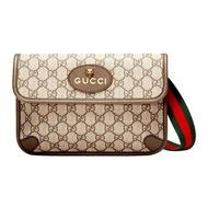 SALE!! กระเป๋าคาดอก คาดเอวGUCCI GG SUPREME BELT สี: BAG BEIGE/EBONY [MC4939309C2VT8745] กระเป๋า แบรนด์ของแท้ 100% Promotion โปรโมชั่น