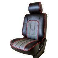 【葵花】量身訂做-汽車椅套-日式合成皮-格紋配色-C款(休旅車-5-8人座款第1+2排)