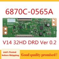Tcon BOARD 6870C-0565A V14 32HD DRD Ver 0.2 ทดสอบสำหรับ LG ฯลฯ... Original Logic BOARD T-CON 6870C 0565A