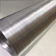 【富爾康】油煙機排風管鋁箔管鋁風管鋁管通風管排氣管排油煙管管鋁箔伸縮管5尺12尺5.5英吋修飾蓋