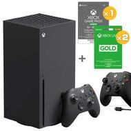 Xbox Series X + XGPU 3個月x1+ 金會員一年x2+ XBOX 手把 (含線) / 台灣公司貨