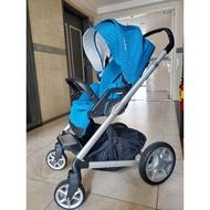 二手 Nuna mixx 戰車 景觀車 藍色 推車 嬰兒推車 避震推車 可收摺 荷蘭 雙向
