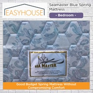 Seamaster Blue Spring Mattress   Bedroom   Available in 3 Mattress Sizes - Single/Super Single/Queen