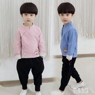 男童唐裝漢服秋中國風改良冬款新款復古裝小孩套裝民族風童裝兒童 LR13967