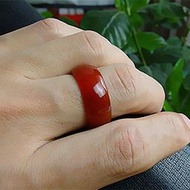 【吉韻】正品天然紅瑪瑙戒指 玉戒指玉指環 紅玉髓戒指指環扳指