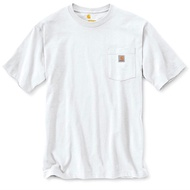 CARHARTT - K87 WHT 美線 Pocket Tee 口袋 短T 素T (白色 WHT) 化學原宿