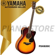 Yamaha FSX820C Concert Cutaway Acoustic-Electric Guitar (Brown Sunburst)