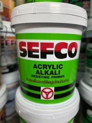 สีรองพื้นปูนใหม่ ถังใหญ่ 18 ลิตร กลิ่นอ่อน สีขาวใส ทาเสร็จเข้าอยู่ได้เลย สีทาบ้าน SEFCO