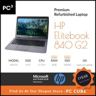 HP Elitebook 840 G2 i7 8GB RAM 240GB SSD Laptop Windows 10 [Premium Refurbished Laptop] 1 year warranty