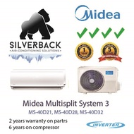 Midea Os series System 3  MS40D-21 / SMKS09 x 3 (full installation using upgaded materials)