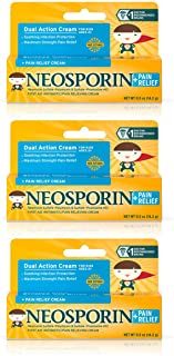 Neosporin First Aid Antibiotic + Pain Relief Cream For Kids.5 Oz (Pack of 3)
