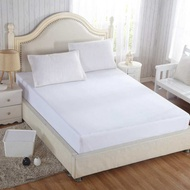 HSGA16RS Queen Size Pure White Cover Bedroom Mattress Protector Soft