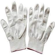 1雙 白色 13針細尼龍手套 薄款 棉紗手套 勞保手套 透氣 彈力防靜電工作手套 男女通用【SV6661】BO雜貨