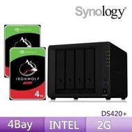 【希捷 4TB】2入組 NAS硬碟+【Synology】DS420+ 網路儲存伺服器