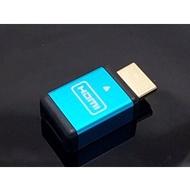 【當天寄出】 顯示卡欺騙器 HDMI 4K解析 二代 更穩定 藍色 (虛擬顯示器 挖礦 假負載 欺騙器 RX570 RX580 GTX1060)