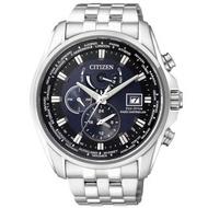 【CITIZEN】Eco-Drive 光動能電波號時腕錶(深藍-45mm-AT9031-52L)