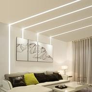 LED線條燈 led線條燈嵌入式燈條暗藏u型鋁槽長條線性燈客廳創意明裝線型燈『XY2350』