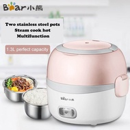 Bear DFH-B13E5 Electric Lunch Box Electric Heating Insulation Hot Rice Artifact Stainless Steel Lunch Box 1.3L