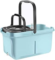 Mop and Buckets Sets Rotating Mop - Blue Rotating Mop, Rotating Mop Bucket Free Hand Washing, Mopping Double Drive Drowning Mop