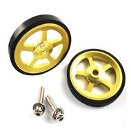 2pcs Easy Wheels Easywheel & Bolts for Brompton 3SIXTY Folding Bike 63g Rack Wheels Brompton Accessories