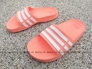 Shoestw【CP9384】ADIDAS DURAMO SLIDE K 拖鞋 中大童 一體成型 粉橘白