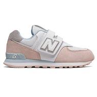 Shoestw【YV574NSE】NEW BALANCE NB574 運動鞋 黏帶 中童鞋 Wide 白粉水藍