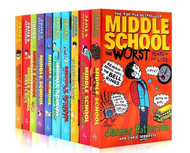 10 Books/Set Middle School English Reading Books Hell High School Life Campus Novels Books