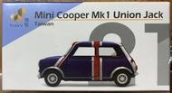 ☆勳寶玩具舖【現貨】TINY 城市 21 迷你谷巴 Mini Cooper Mk1 Union Jack 英國旗 (台灣) (右駕)