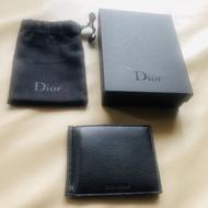 [美美精品]保證全新正品 Dior Homme DH 黑色牛皮  六卡 鈔票夾  短夾  短夾