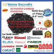 Refill Charcoal For Cooker Hood Charcoal Filter For 1pc Filter (6-8  inch) For Rubine Elba Electrolux Zanussi Tellini Rinnai Faber Livinox Fagor Livinox BOSCH ARISTON FRANKE TEKA PACIFICA FUJIHOME TUSCANI WHIRLPOOL MORGAN CATA For 1pc Filter (6-8 inch)