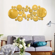 Acrylic Gold Polka Dots Wall Stickers Decorations /3D DIY Mirror Wallpaper Wall Stickers Ornament /Creative  Personality Wall Stickers Decor for Home Living Room Bedroom Kids Room