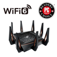 ASUS ROG Rapture GT-AX11000 AX11000 Tri-band 802.11ax WiFi 6 Gaming Router – 3 Year Asus Singapore Warranty