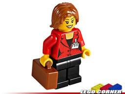 【樂高小角落】 Press Woman / Reporter (60051) 城市系列人偶、女記者 CTY510