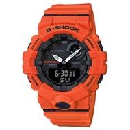【CASIO 卡西歐】G-SHOCK 活力充沛計步藍芽雙顯錶-橘(GBA-800-4ADR)