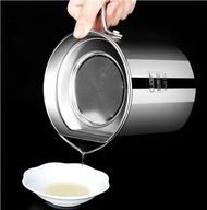 油壺收納壺 德國CUGF304不鏽鋼油壺大容量隔油壺過濾油壺油瓶家用廚房用品油