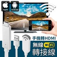 【手機轉電視!蘋果/安卓可用】手機轉HDMI無線視訊轉接線 手機接電視 WIFI連接 安卓蘋果手機轉電視【F0419】