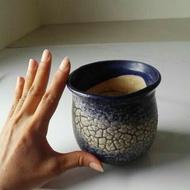 二手陶瓷花盆 有凹凸紋路